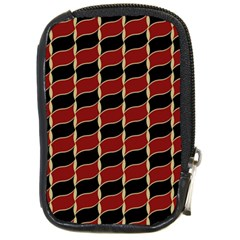 Leaves Red Black Compact Camera Cases by Cveti