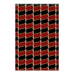 Leaves Red Black Shower Curtain 48  X 72  (small)  by Cveti