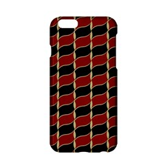 Leaves Red Black Apple Iphone 6/6s Hardshell Case by Cveti