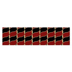 Leaves Red Black Satin Scarf (oblong) by Cveti