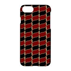Leaves Red Black Apple Iphone 7 Hardshell Case by Cveti