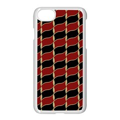 Leaves Red Black Apple Iphone 7 Seamless Case (white) by Cveti