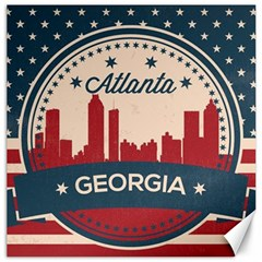 Retro Atlanta Georgia Skyline Canvas 12  X 12   by allthingseveryday