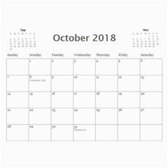 Vigil Family Calendar 2018 By Becky   Wall Calendar 11  X 8 5  (12 Months)   E29xkkmfymkz   Www Artscow Com Oct 2018