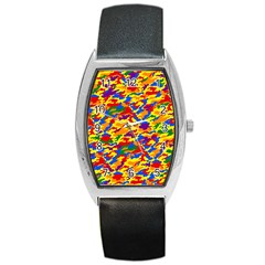 Homouflage Gay Stealth Camouflage Barrel Style Metal Watch by PodArtist