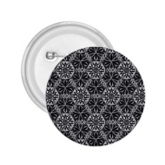 Crystals Pattern Black White 2 25  Buttons by Cveti