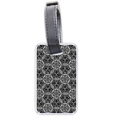 Crystals Pattern Black White Luggage Tags (one Side)  by Cveti