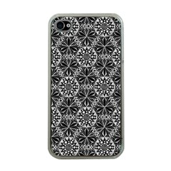 Crystals Pattern Black White Apple Iphone 4 Case (clear) by Cveti