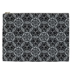 Crystals Pattern Black White Cosmetic Bag (xxl)  by Cveti
