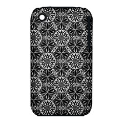 Crystals Pattern Black White Iphone 3s/3gs