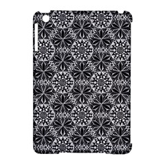 Crystals Pattern Black White Apple Ipad Mini Hardshell Case (compatible With Smart Cover) by Cveti