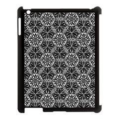 Crystals Pattern Black White Apple Ipad 3/4 Case (black) by Cveti