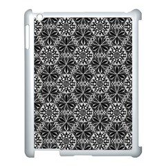 Crystals Pattern Black White Apple Ipad 3/4 Case (white) by Cveti