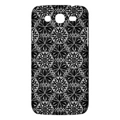 Crystals Pattern Black White Samsung Galaxy Mega 5 8 I9152 Hardshell Case  by Cveti