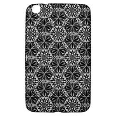 Crystals Pattern Black White Samsung Galaxy Tab 3 (8 ) T3100 Hardshell Case  by Cveti