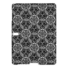 Crystals Pattern Black White Samsung Galaxy Tab S (10 5 ) Hardshell Case  by Cveti