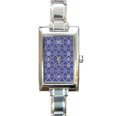 Crystals Pattern Blue Rectangle Italian Charm Watch by Cveti