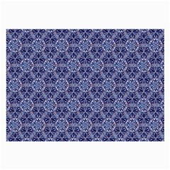Crystals Pattern Blue Large Glasses Cloth (2 Side) by Cveti