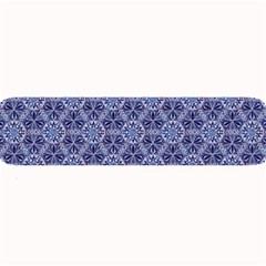 Crystals Pattern Blue Large Bar Mats by Cveti