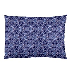 Crystals Pattern Blue Pillow Case by Cveti