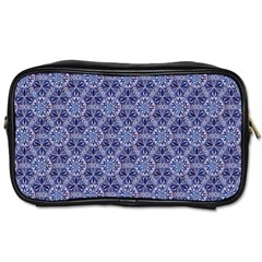 Crystals Pattern Blue Toiletries Bags 2 Side by Cveti