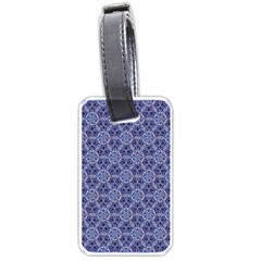 Crystals Pattern Blue Luggage Tags (one Side)  by Cveti