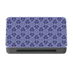 Crystals Pattern Blue Memory Card Reader With Cf by Cveti