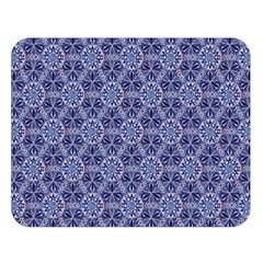 Crystals Pattern Blue Double Sided Flano Blanket (large)  by Cveti