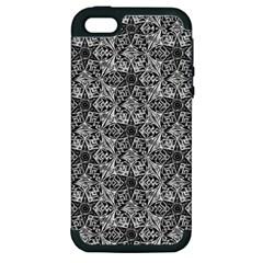 Kaleidoscope Black White Pattern Apple Iphone 5 Hardshell Case (pc+silicone) by Cveti