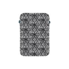 Kaleidoscope Black White Pattern Apple Ipad Mini Protective Soft Cases by Cveti