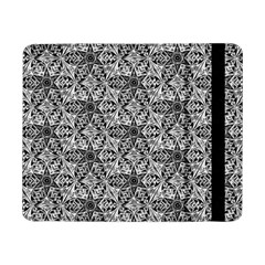 Kaleidoscope Black White Pattern Samsung Galaxy Tab Pro 8 4  Flip Case by Cveti