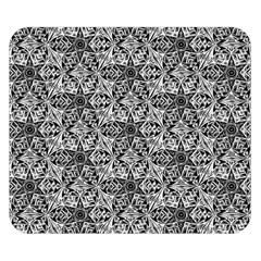 Kaleidoscope Black White Pattern Double Sided Flano Blanket (small)  by Cveti