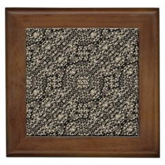 Animal Print Camo Pattern Framed Tiles by dflcprints