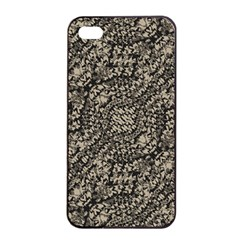 Animal Print Camo Pattern Apple Iphone 4/4s Seamless Case (black) by dflcprints