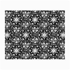 Star Crystal Black White Pattern Small Glasses Cloth (2 Side) by Cveti
