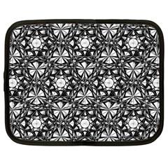 Star Crystal Black White Pattern Netbook Case (xxl)  by Cveti