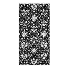 Star Crystal Black White Pattern Shower Curtain 36  X 72  (stall)