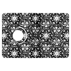 Star Crystal Black White Pattern Kindle Fire Hdx Flip 360 Case by Cveti