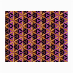 Flower Of Life Purple Gold Small Glasses Cloth (2 Side) by Cveti