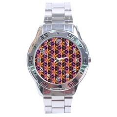 Flower Of Life Purple Gold Stainless Steel Analogue Watch by Cveti