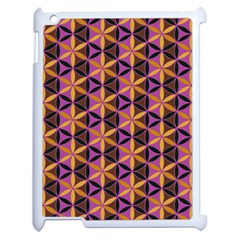Flower Of Life Purple Gold Apple Ipad 2 Case (white) by Cveti