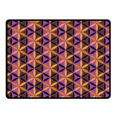 Flower Of Life Purple Gold Double Sided Fleece Blanket (small)  by Cveti
