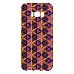 Flower Of Life Purple Gold Samsung Galaxy S8 Plus Hardshell Case  by Cveti