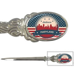 Retro Baltimore Maryland Skyline Letter Openers by allthingseveryday