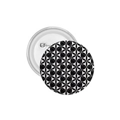 Flower Of Life Pattern Black White 1 75  Buttons by Cveti