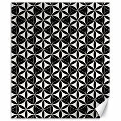 Flower Of Life Pattern Black White Canvas 20  X 24   by Cveti