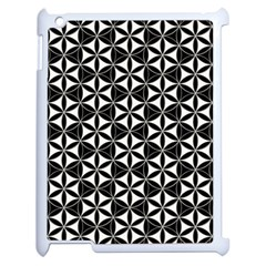 Flower Of Life Pattern Black White Apple Ipad 2 Case (white) by Cveti
