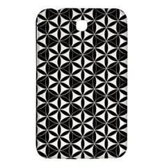 Flower Of Life Pattern Black White Samsung Galaxy Tab 3 (7 ) P3200 Hardshell Case  by Cveti