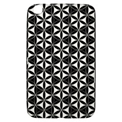 Flower Of Life Pattern Black White Samsung Galaxy Tab 3 (8 ) T3100 Hardshell Case  by Cveti