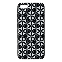 Flower Of Life Pattern Black White Iphone 5s/ Se Premium Hardshell Case by Cveti